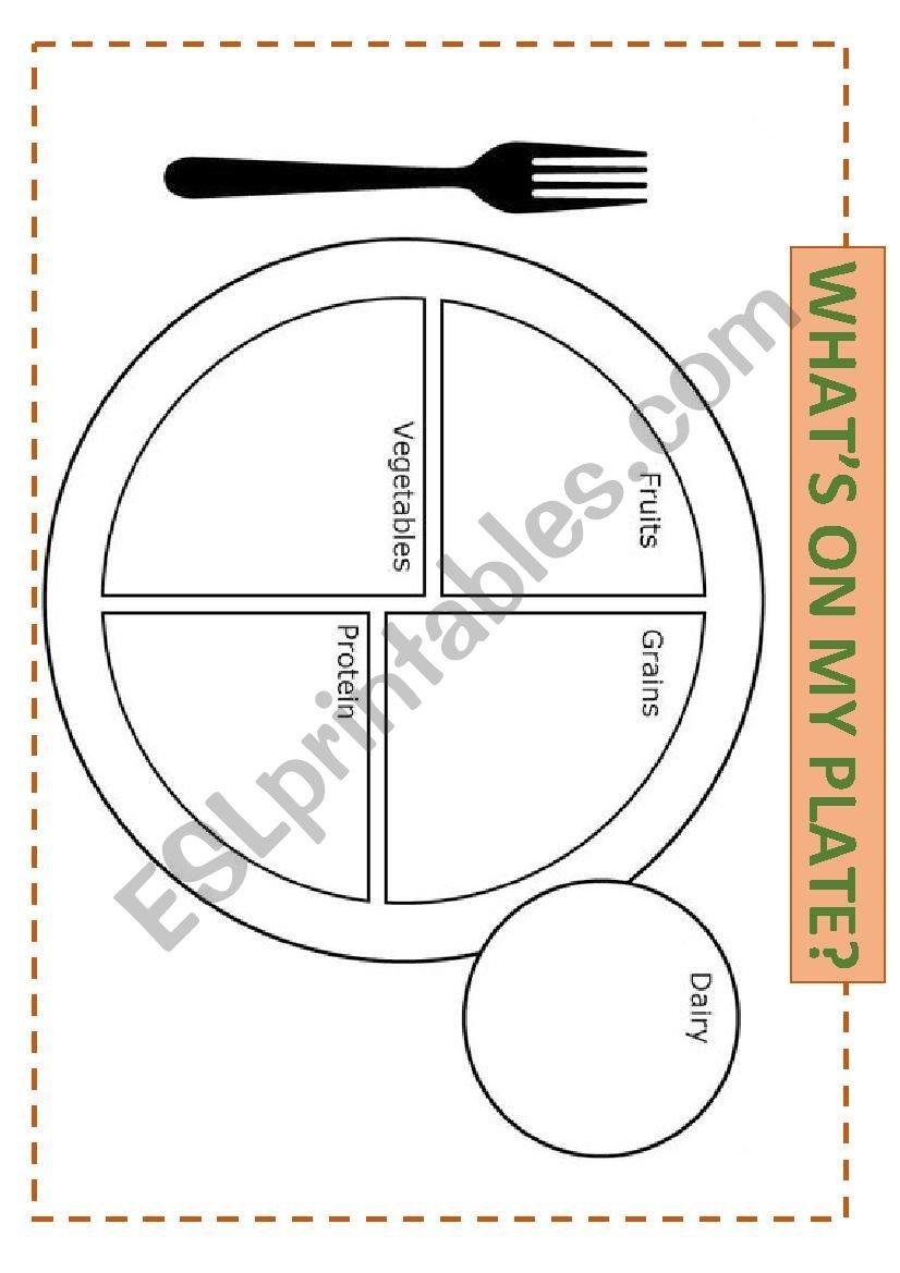What´s On My Plate  Esl Worksheetsomnis Regarding My Plate Worksheets