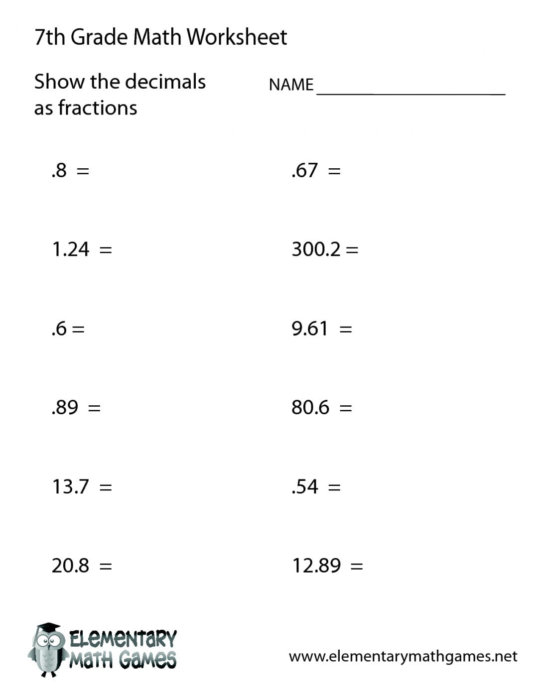 Worksheet 6Th Grade Math Practice Worksheets Grade Math Worksheets For 7Th Grade Common Core Math Worksheets With Answer Key