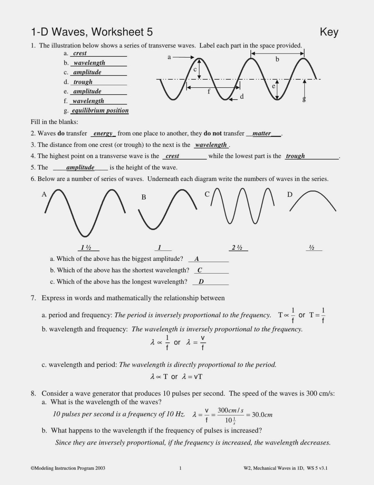 Worksheet Labeling Waves Answer Key Or Electromagnetic Spectrum With Regard To Worksheet Labeling Waves Answer Key