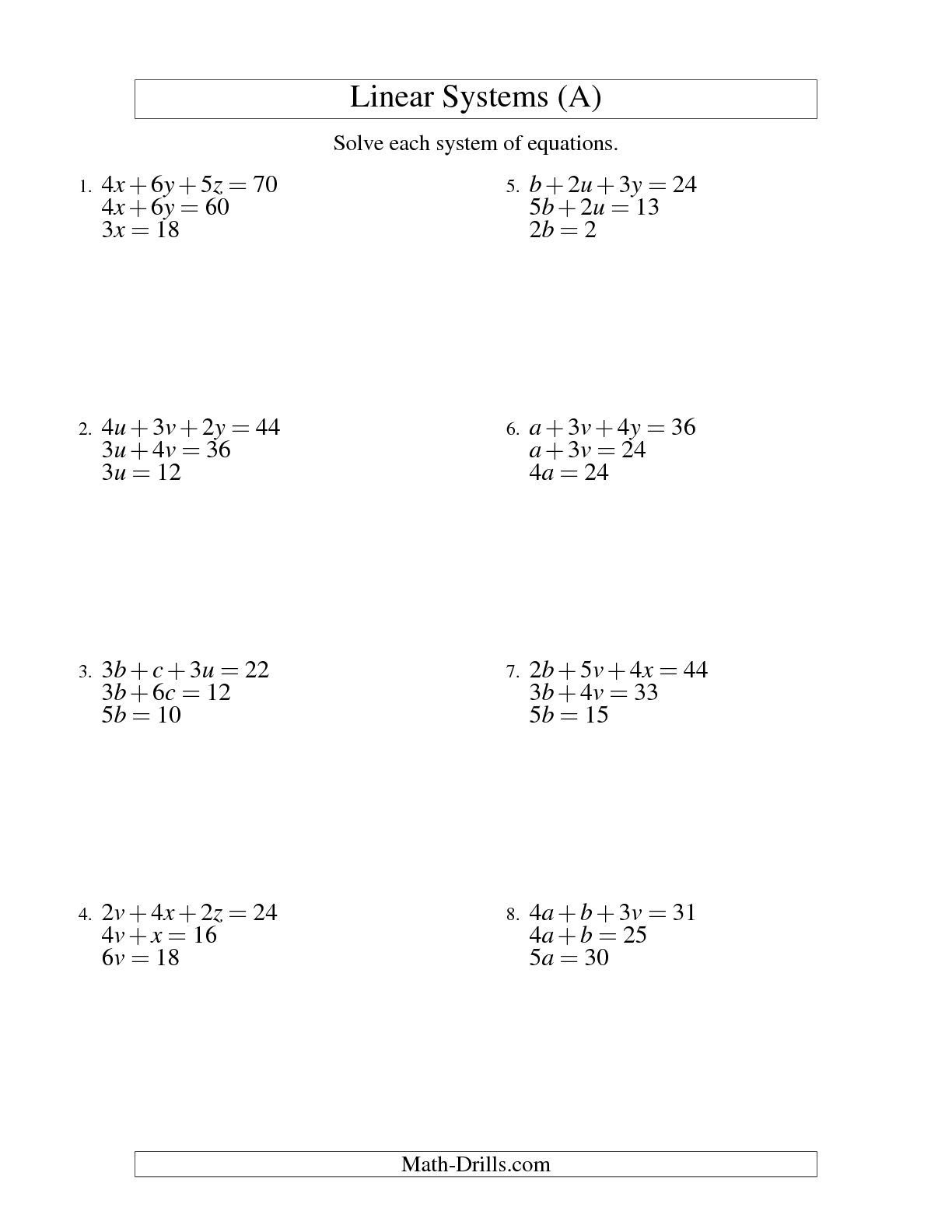 Worksheet Solving Systems Of Equationselimination Worksheet Along With Solving Systems Of Equations By Elimination Worksheet Pdf