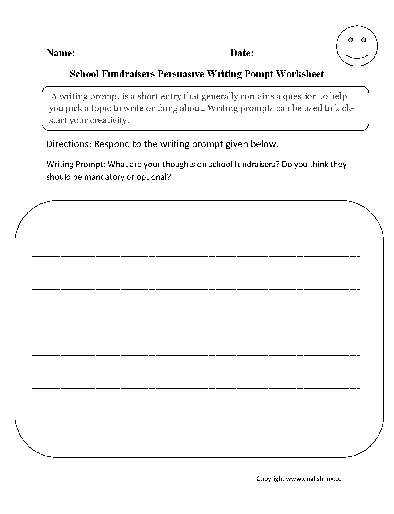 Writing Prompts Worksheets  Persuasive Writing Prompts Worksheets For Persuasive Writing Worksheets